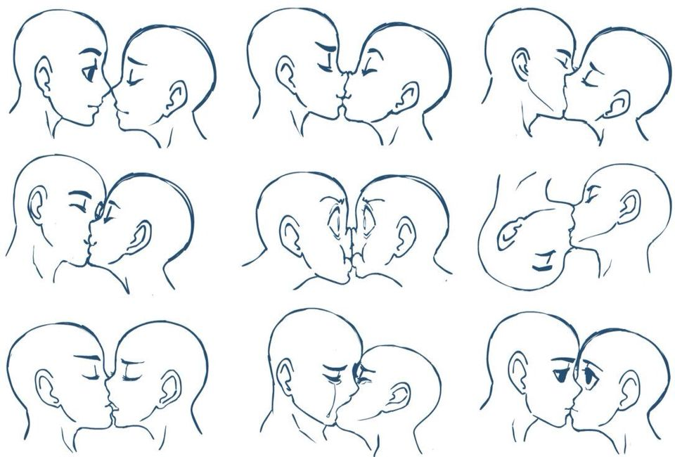 Anime kiss how to draw a kiss kissing poses manga