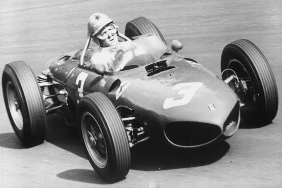 Dutch Gp 1961 Winner Von Trips In His Ferrari 156 Ferrari Grand Prix Racing Ferrari Racing