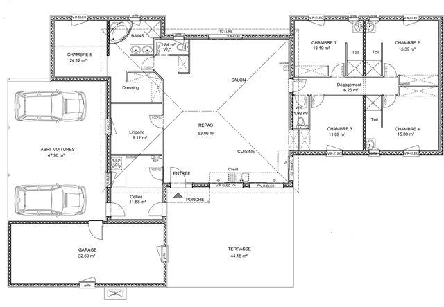 plan maison contemporaine gironde