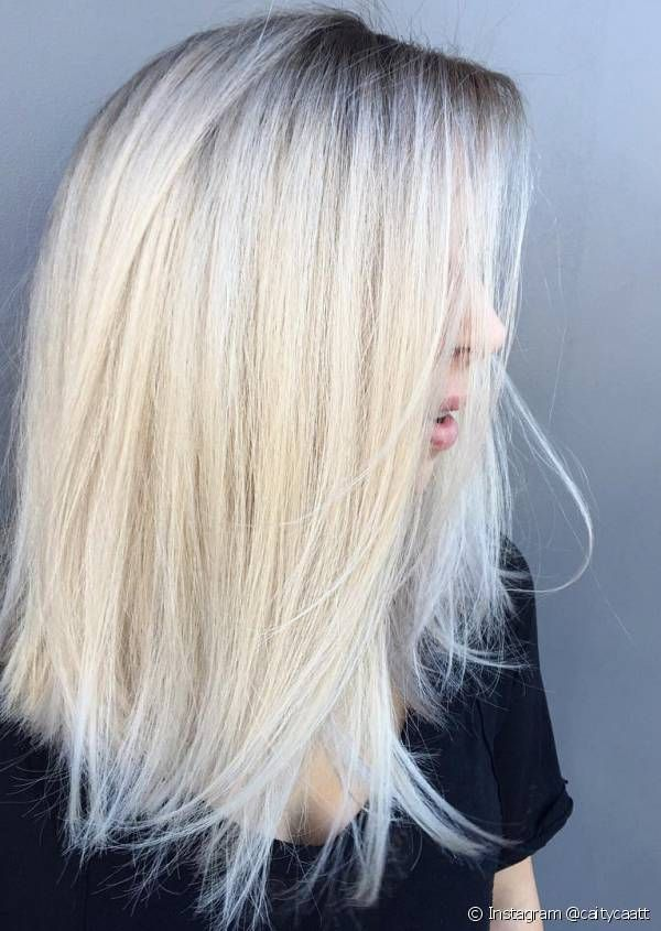 Balayage Blond Polaire Cheveux Courts