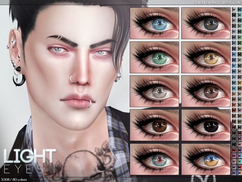 Eyes in 60 colors, all ages and genders Found in TSR Category 'Sims