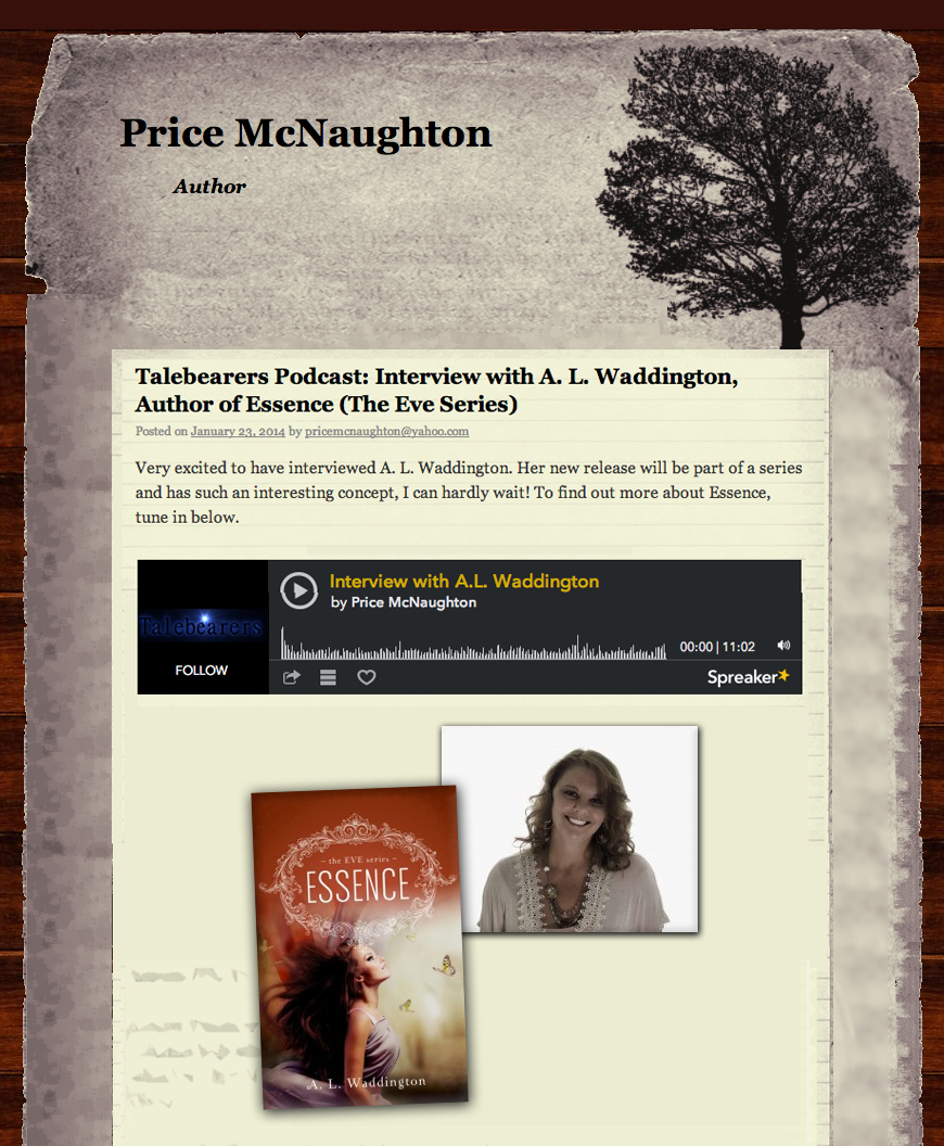 Talebearers Podcast: Interview with A. L. Waddington, Author of ESSENCE (The Eve Series).