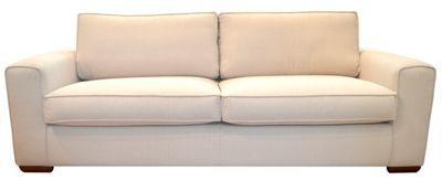 Debenhams Large natural coloured 'Dane' sofa with dark wood feet- at Debenhams.com