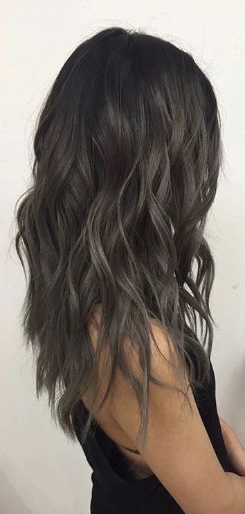 Dark mushroom brown hair
