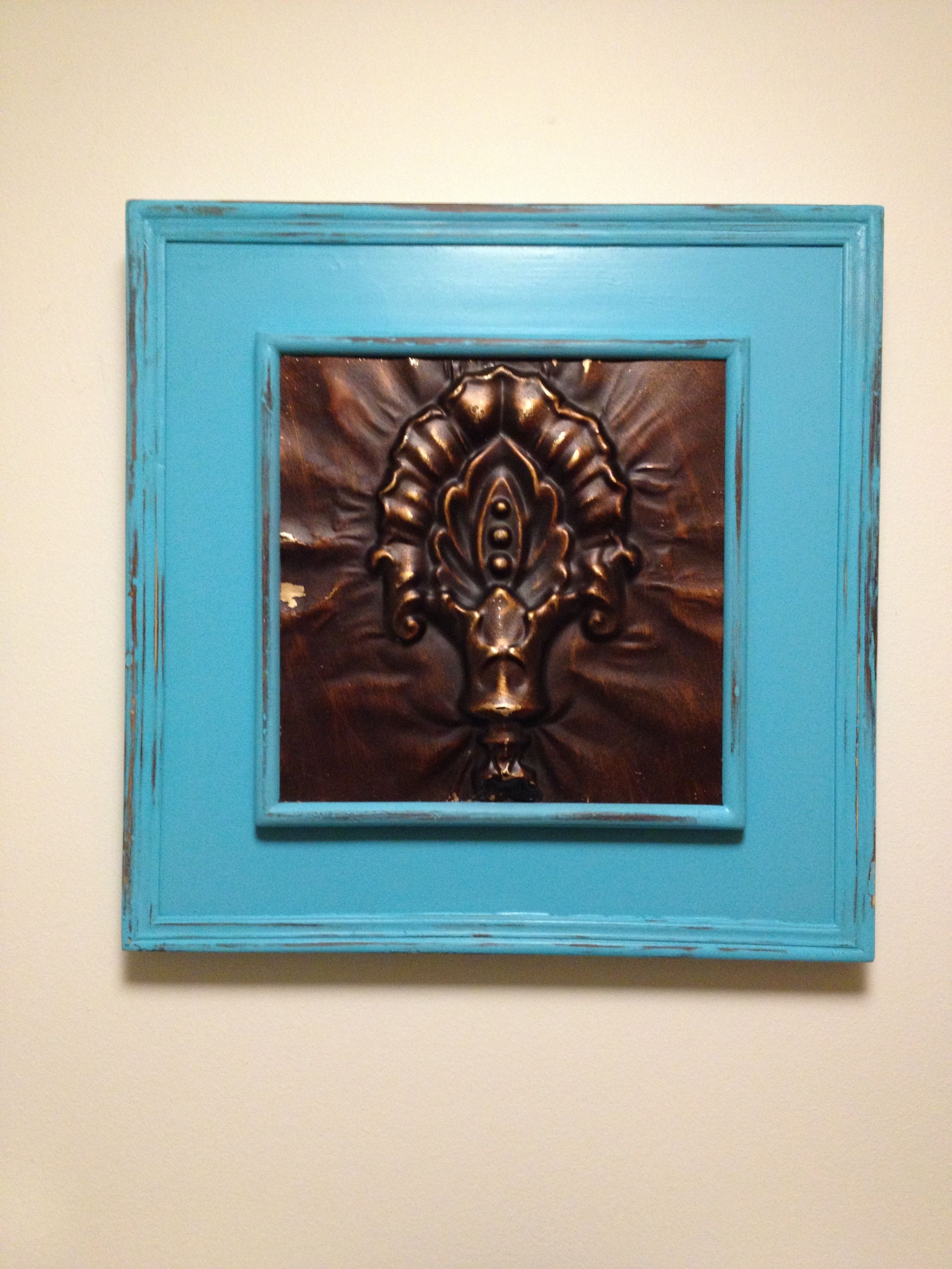 Distress pic wood frame frame painting