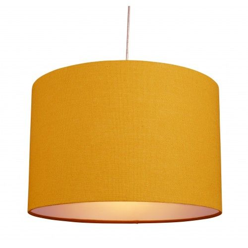 Beautiful 12u201d Cotton Drum Ceiling Light Pendant Lampshade Yellow Ochre