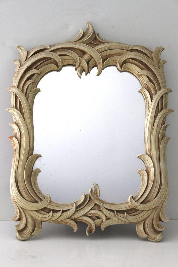 Espejo madera de syroco antiguo orlas pinterest for Espejos de madera