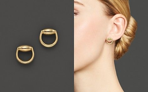 69cfc55798db5 Gucci Horsebit Stud Earrings in 18K Yellow Gold | necklace in 2019 ...