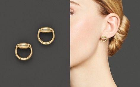 30e1aad06 Gucci Horsebit Stud Earrings in 18K Yellow Gold | necklace in 2019 ...