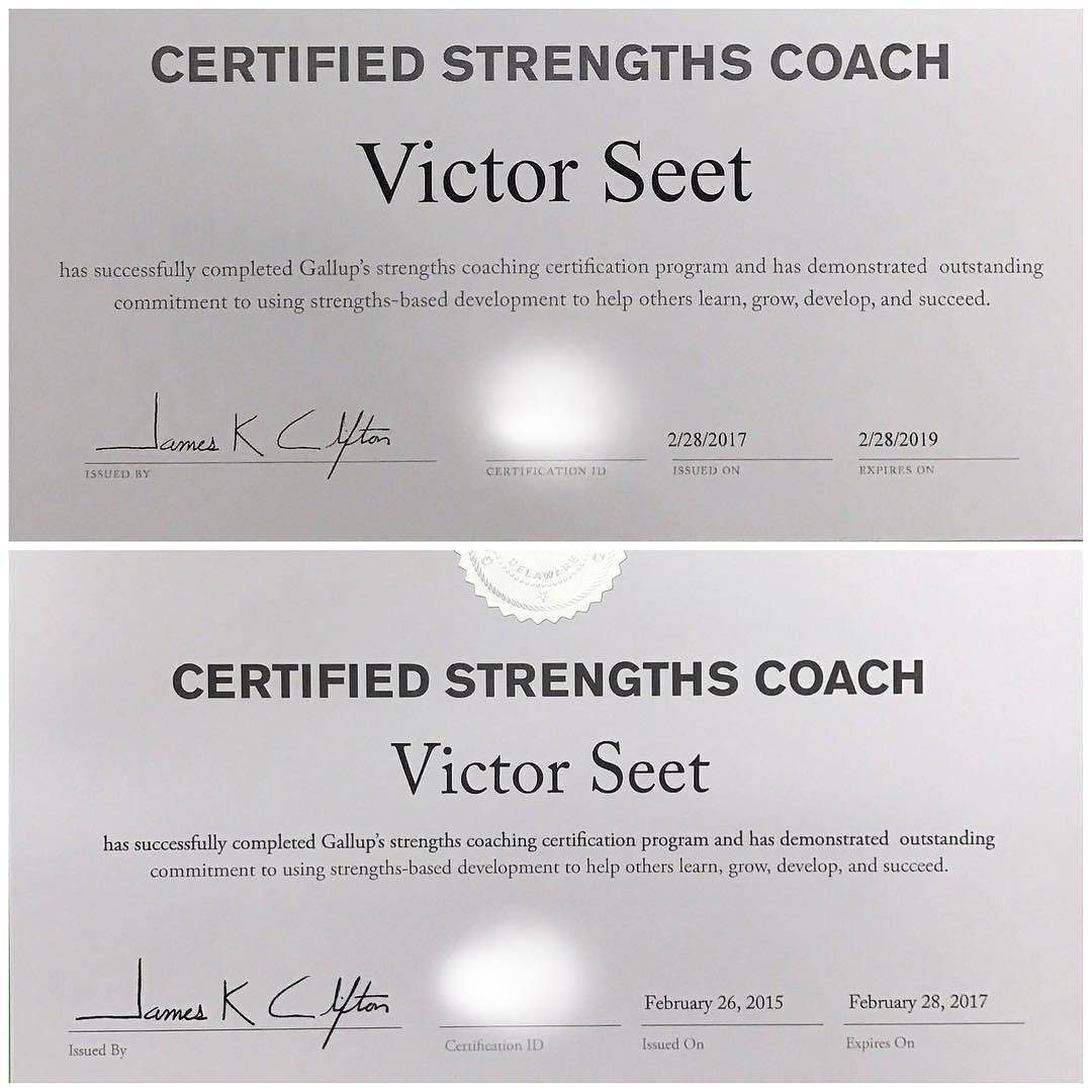As a singapore strengthsfinder coach im glad to renew my as a singapore strengthsfinder coach im glad to renew my gallup cliftonstrengths coaching certificate first completed this accelerated strengths xflitez Choice Image