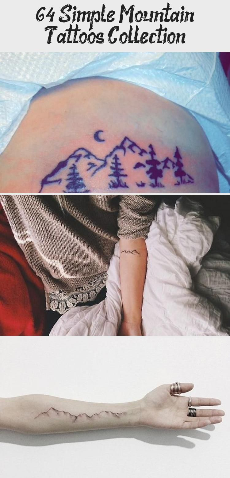 Photo of 64  Simple Mountain Tattoos Collection #mountaintattoo Simple Black Line Mountai…