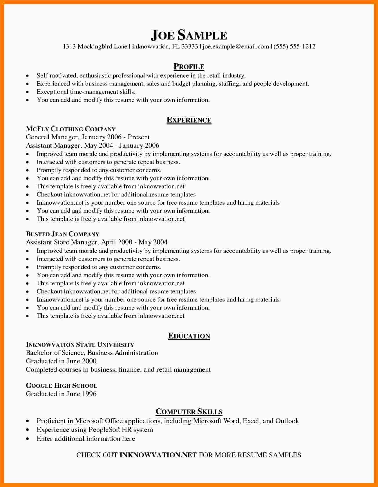 The Glamorous 8 Free Sample Resume Templates Marlows Jewellers With Free Basic Resume Templates Microsoft Basic Resume Examples Basic Resume Resume Examples