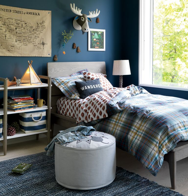 Best Grey And Navy Boys Bedroom Small Bedroom Decor Boys 400 x 300
