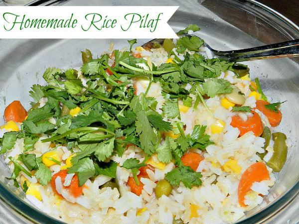 "Homemade Rice Pilaf - Fresh and full of flavor without that ""boxed"" taste. SUPER easy to whip up tonight!"