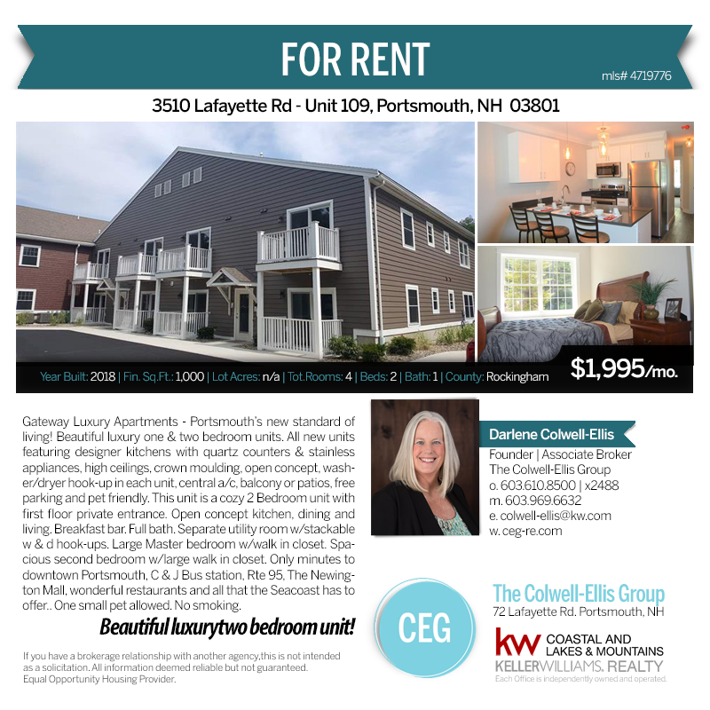 3510 Lafayette Rd Unit 109 Portsmouth Nh Luxury Apartments Portsmouth Rental Property