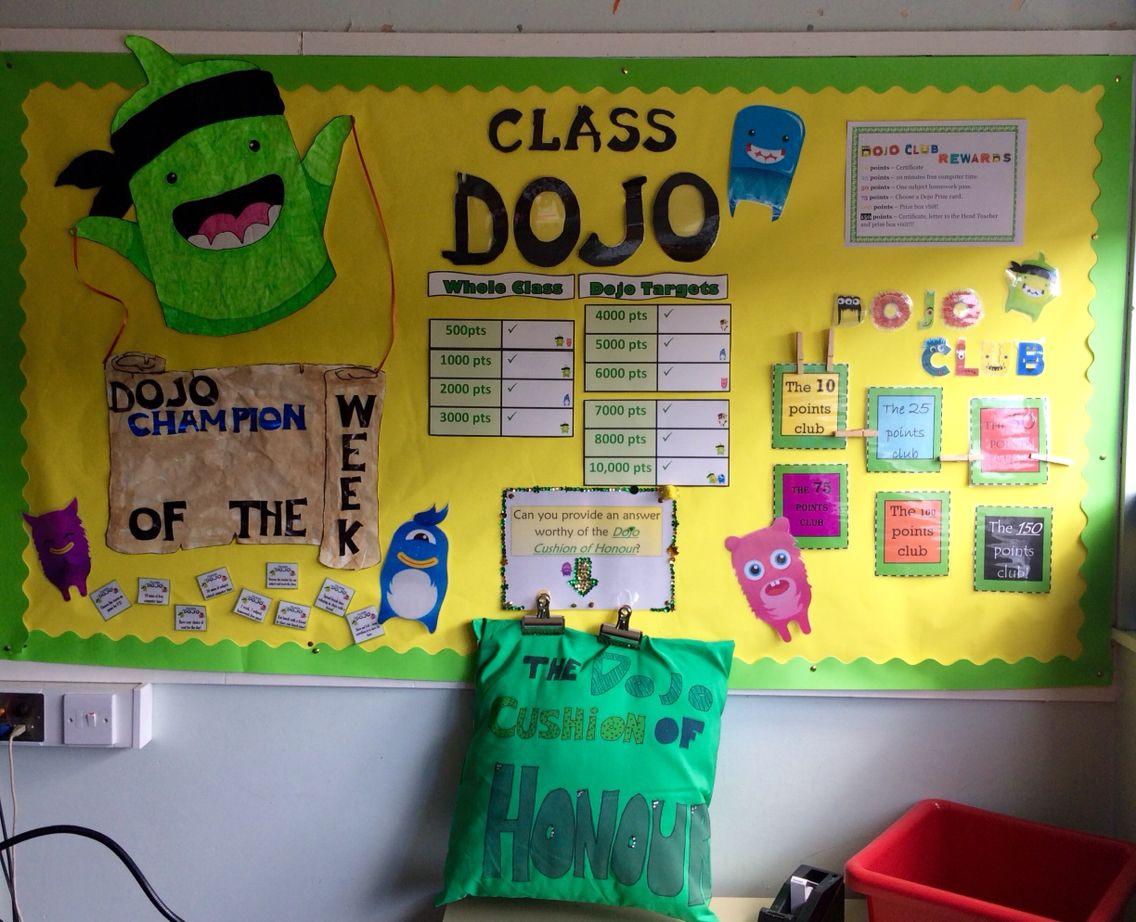 Class Dojo display I created for my p5/6 classroom