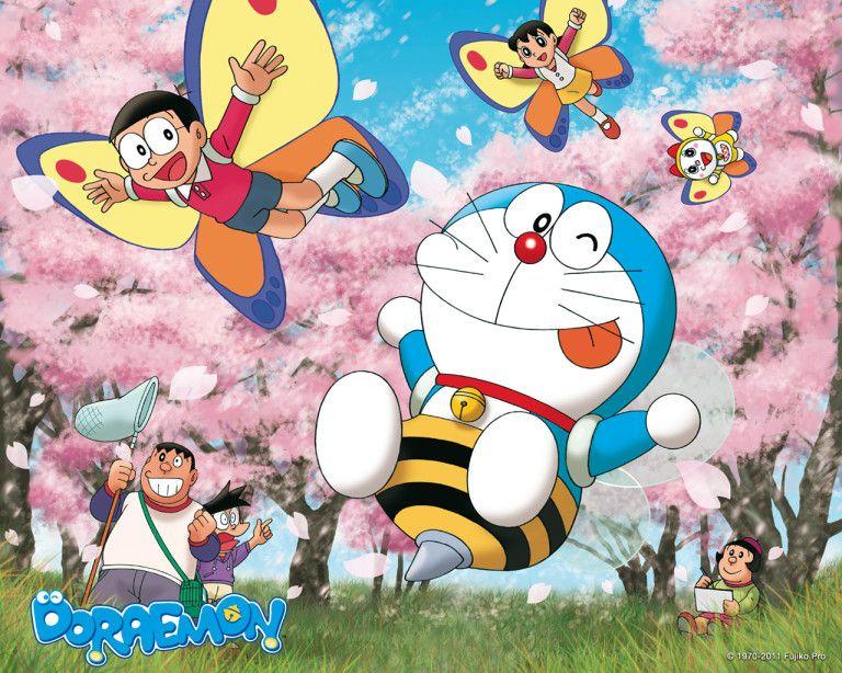 Doraemon Wallpaper 05 Doraemon El Gato Cosmico Doraemon Fondo De Pantalla De Dibujos Animados