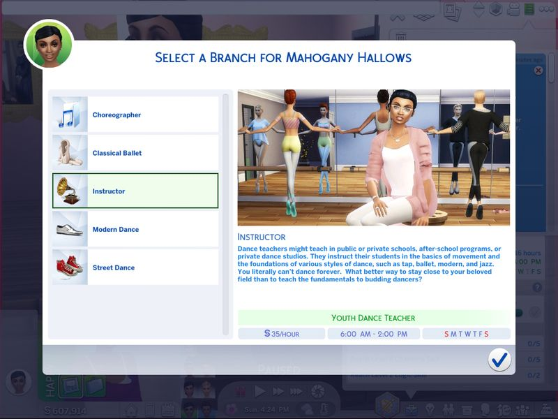 Asiashamecca S Ultimate Dancer Career Sims 4 Jobs Sims 4 Sims 4 Traits