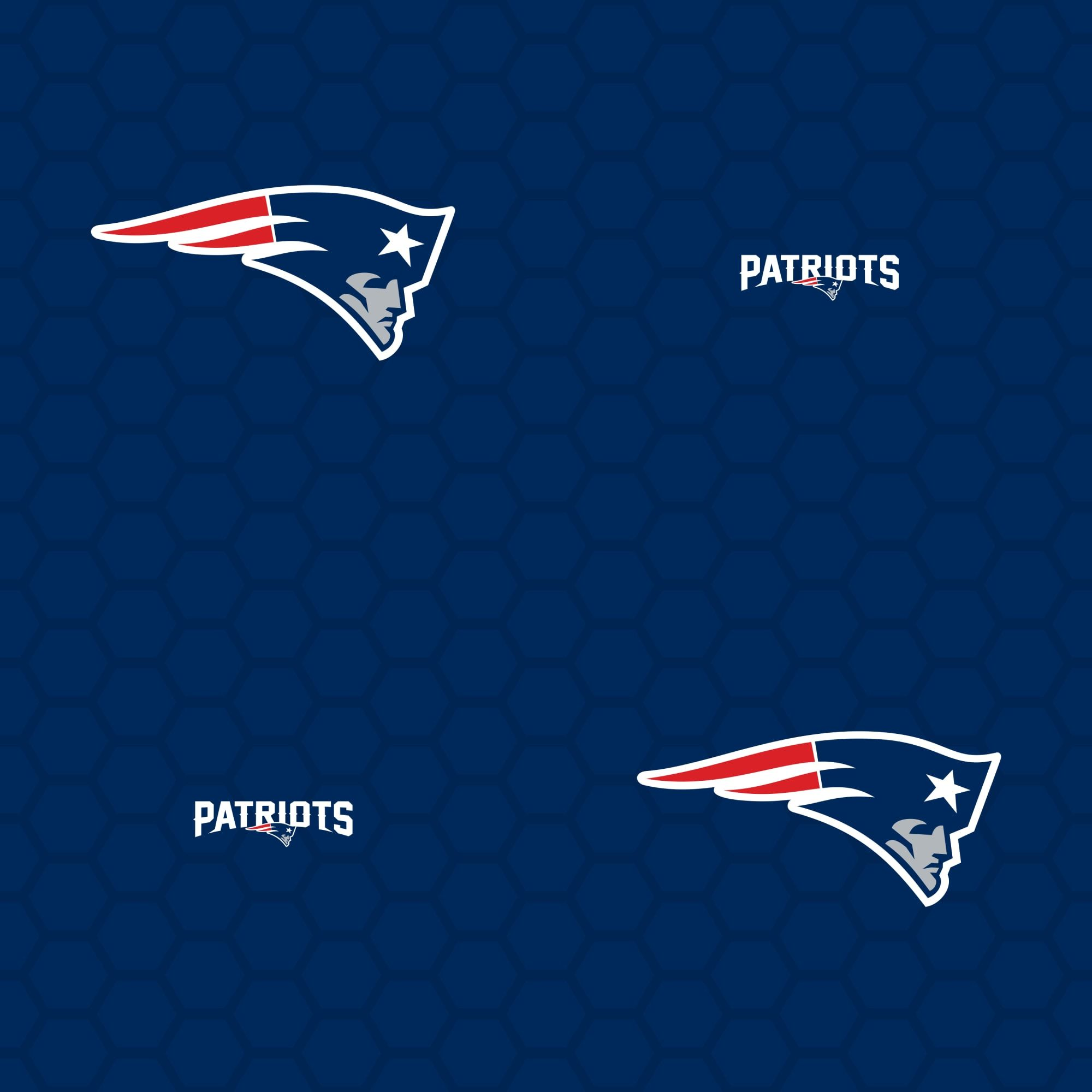 New England Patriots Logo Pattern Blue Officially Licensed Removable Wallpaper New England Patriots Atlanta Hawks New England Patriots Logo