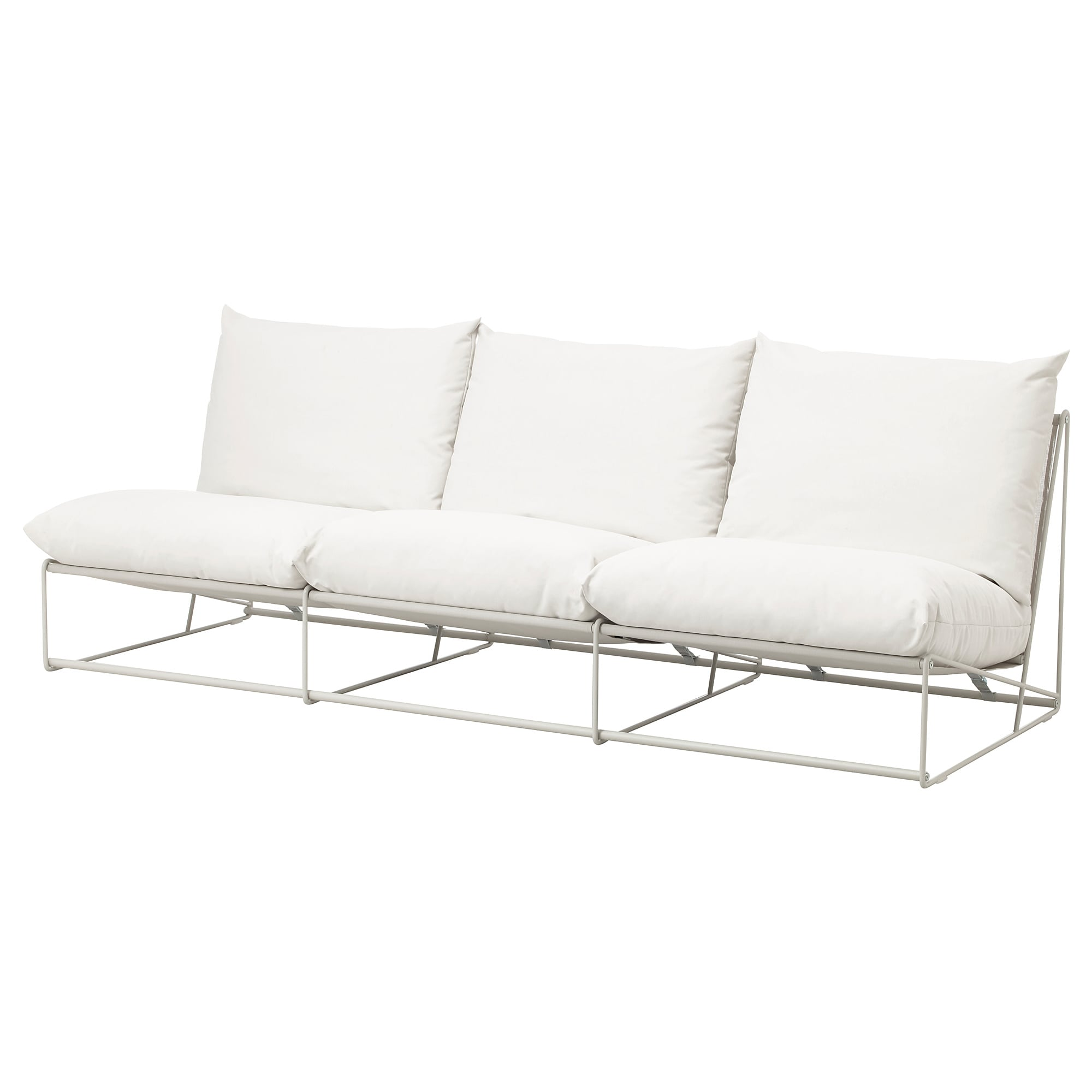 Ikea Havsten Without Armrests With Open End Beige Sofa In