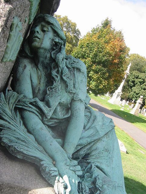Green Lady Grieving Cemetery 121-2138 IMG by Brechtbug, via Flickr