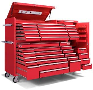 72 TCA XT Series Toolbox 3 Piece Set Roller Cabinet, Tool Chest And Side  Cabinet