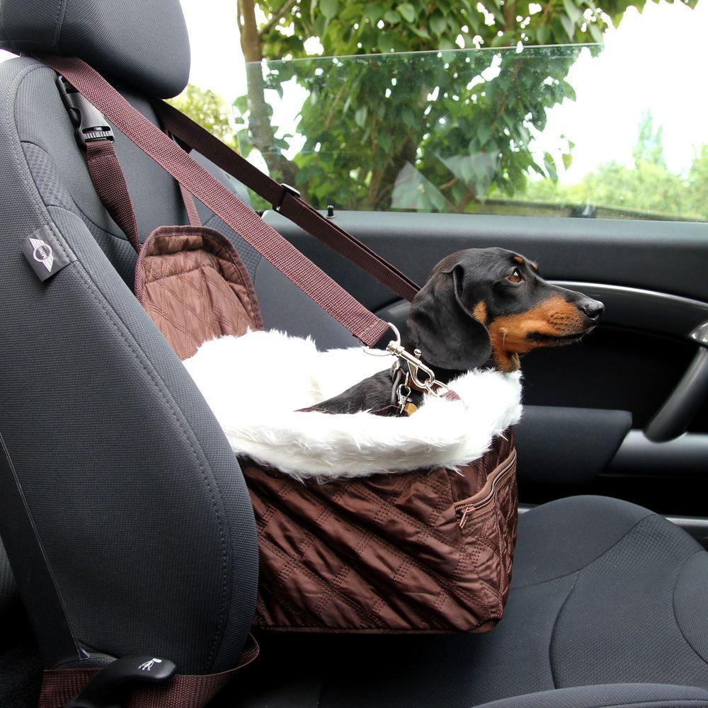 Pet Car Carrier Bed With Safety Belt For Dog Cat Puppy Travel Bag Booster Seat Ebay