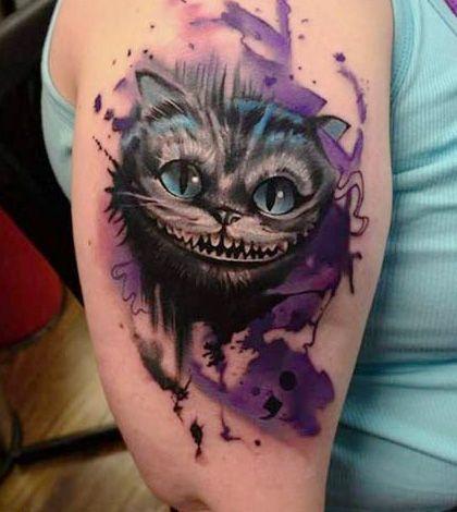 cheshire cat die grinsekatze tatuajes pinterest tattoo watercolour tattoos and comic tattoo. Black Bedroom Furniture Sets. Home Design Ideas