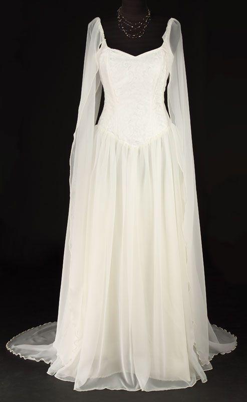 439IV - Ivory Avalon Dress - Gothic, romantic, steampunk clothing ...
