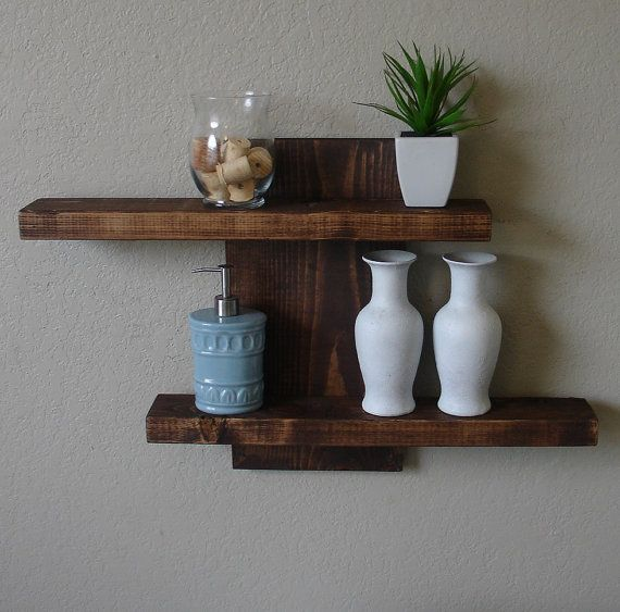 Merveilleux Rustic Modern 2 Tier Floating Wall Shelf By KeoDecor On Etsy