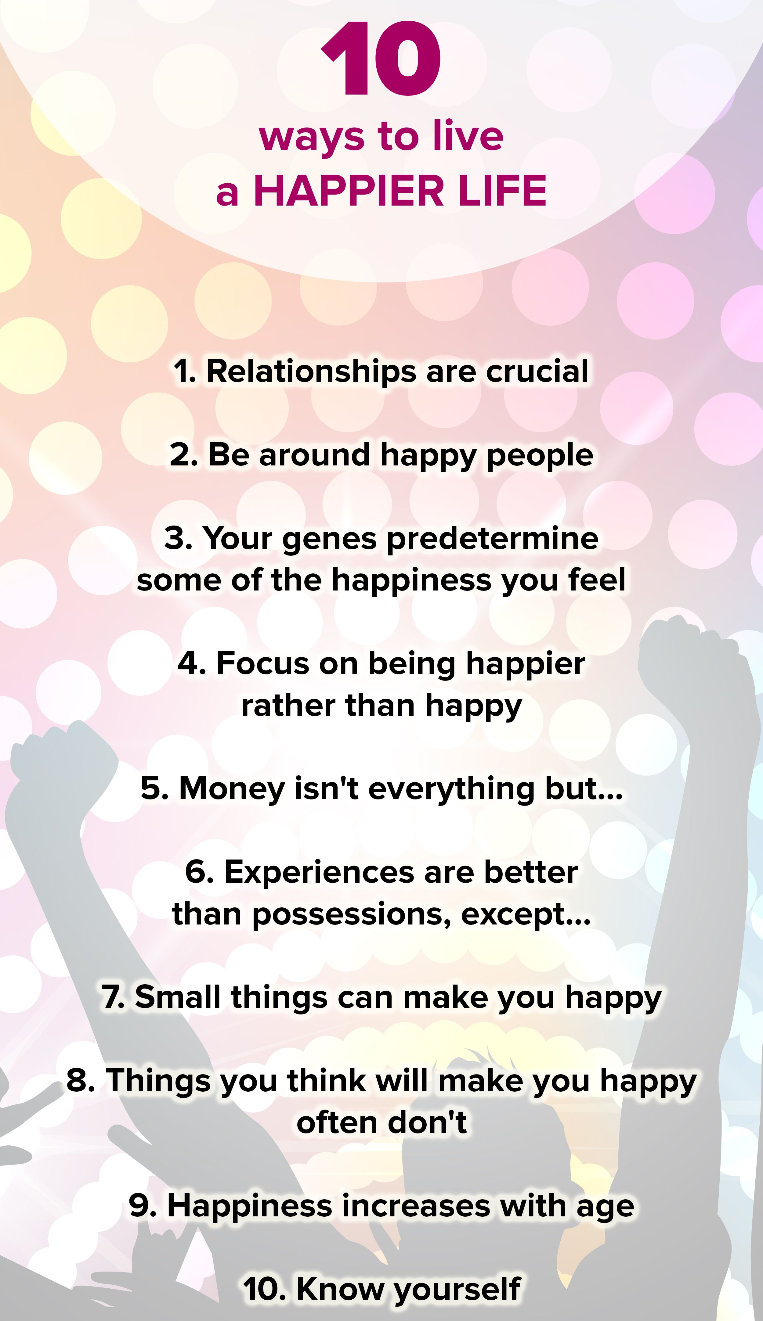 10 basic rules for a happier life — and most of them surprised us