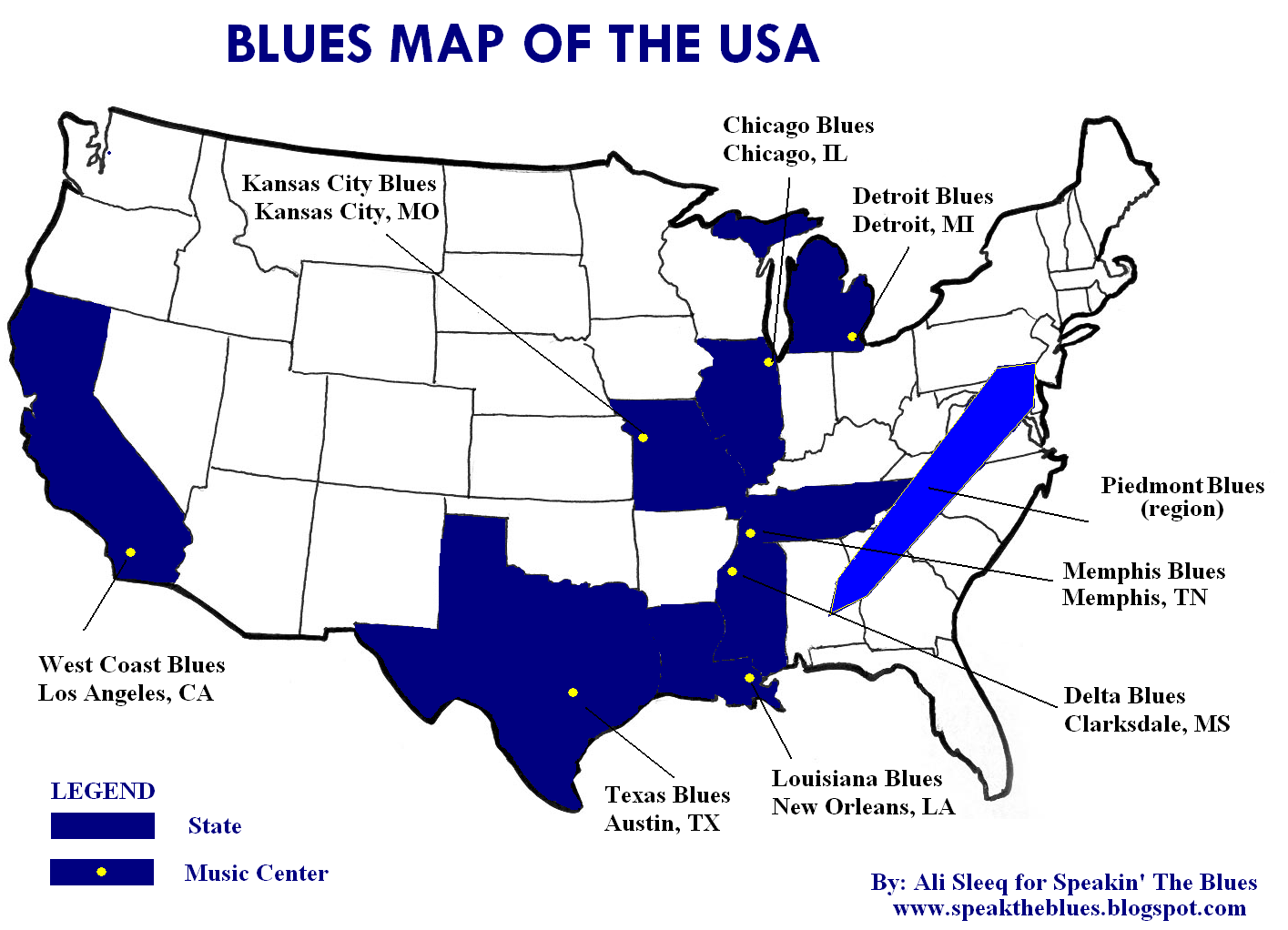 Speakin The Blues Map Of Usa Ways Blue Pignose Amp Wiring Diagram