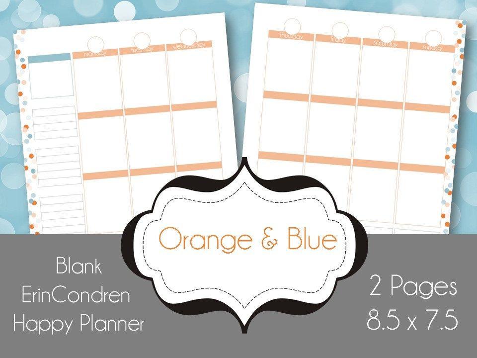 Happy Planner Calendar Printables : Printable calendar erin condren planner pages