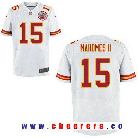 mens 2017 nfl draft kansas city chiefs 15 patrick mahomes ii white road stitched nfl nike elite jersey