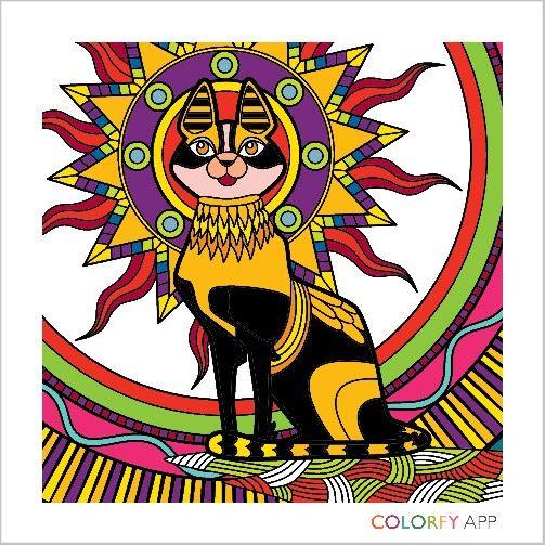 Egyptian Mau #cat #egyptianmau #colorfy #colorfyartbyRA