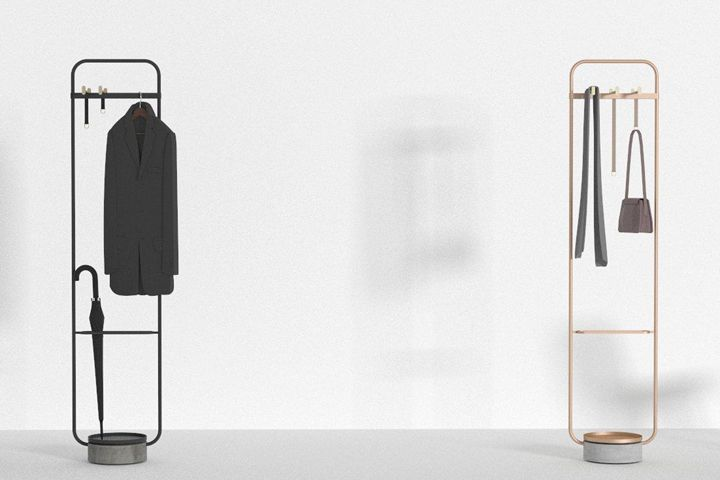 Chinese Studio Neriu0026Hu Has Designed A Minimal Coat Rack For Offecct That  Combines Metal, Leather