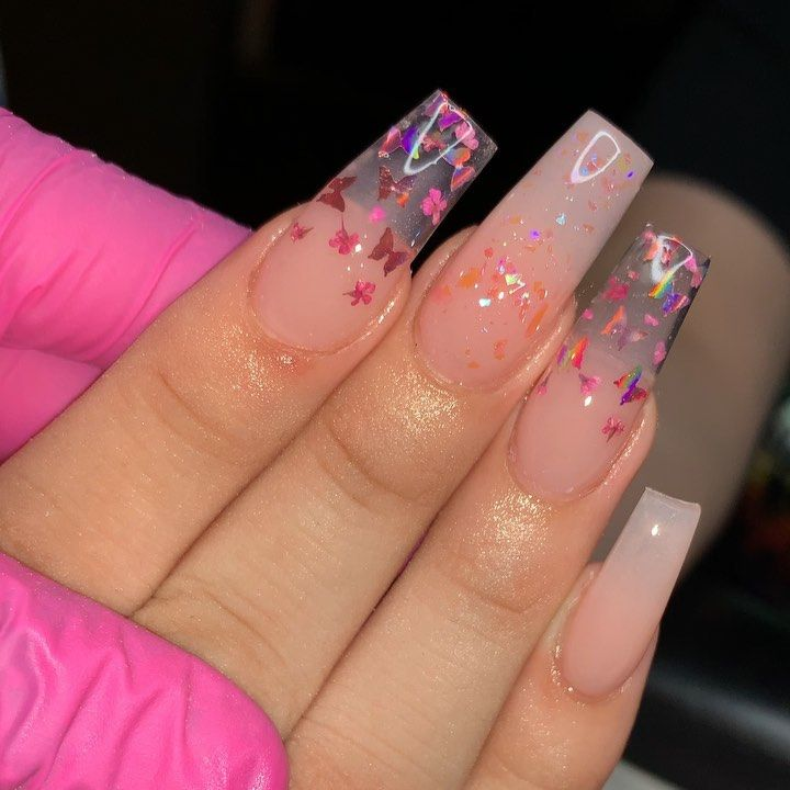 Nayelly Nails On Instagram Recreated My Japanese Cherry Blossom Nails But This Time Added A Li Pretty Acrylic Nails Pink Acrylic Nails Coffin Nails Designs