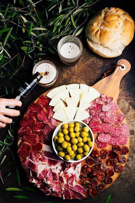 Tapas&beer by Raquel Carmona   Pub food, Food pairings, Food photography
