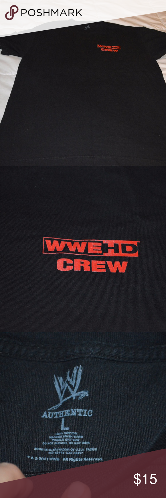 WWE Employee Tee HD Crew Graphic Fall Tour 2011 I work as