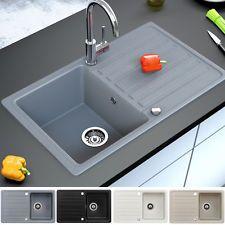 Granit Spüle Küchenspüle Einbauspüle Auflage Spülbecken Küche ...