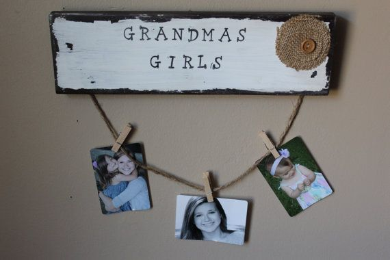 Clothespin Photo Frame Grandma S Picture Display By