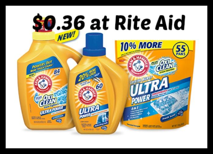 Rite Aid Arm Hammer Laundry Detergent Only 0 36 Https