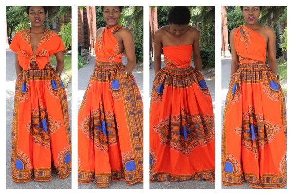 Infinity dashiki dress by ofuure on Etsy