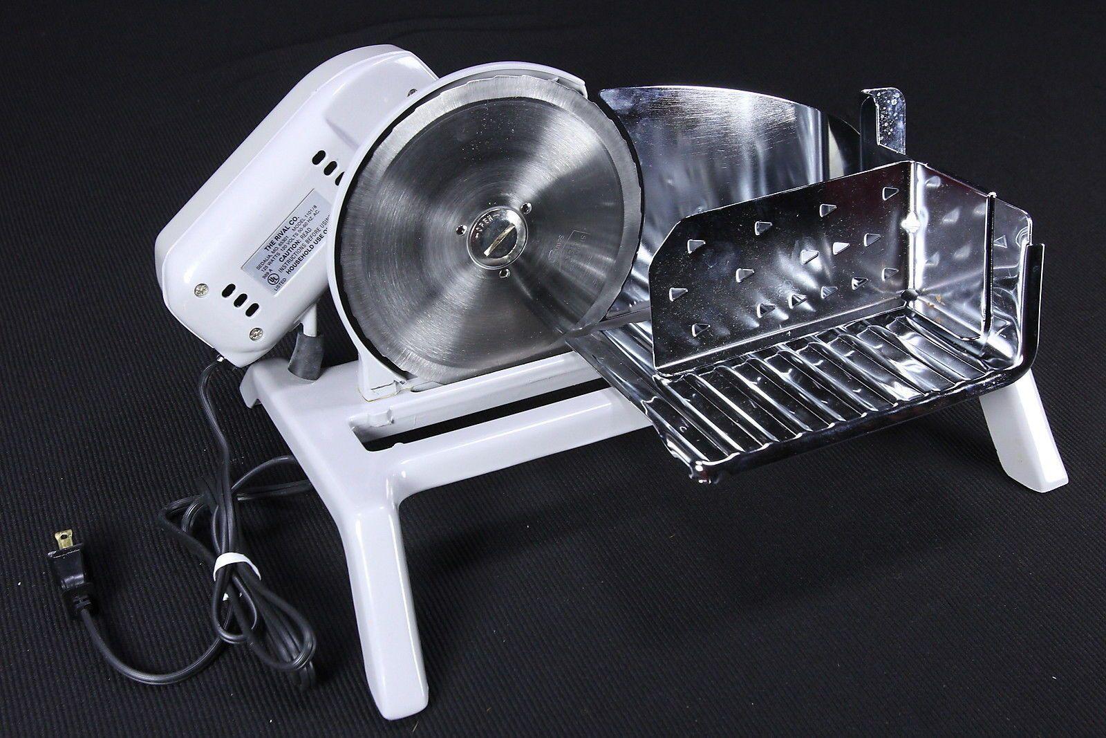 Vintage rival electric food slicer 65301 model 1030v 2 chrome.