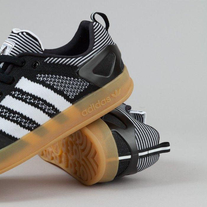 Adidas X Palace Pro Primeknit Shoes - Black / White / Gum