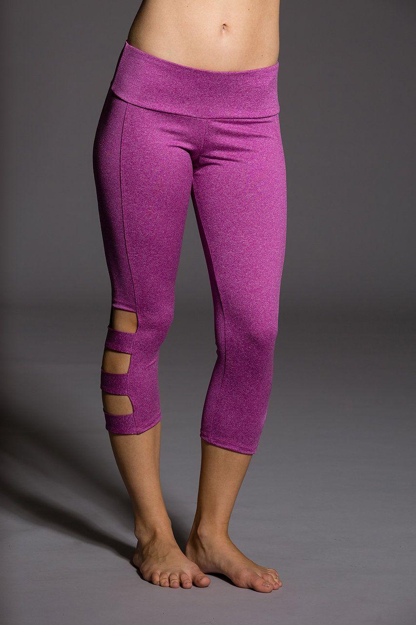 9158f2d7c91b1 Onzie Slit Capri Pant - Hot Yoga Clothing, Bikram Yoga Clothes, Core Power  Yoga