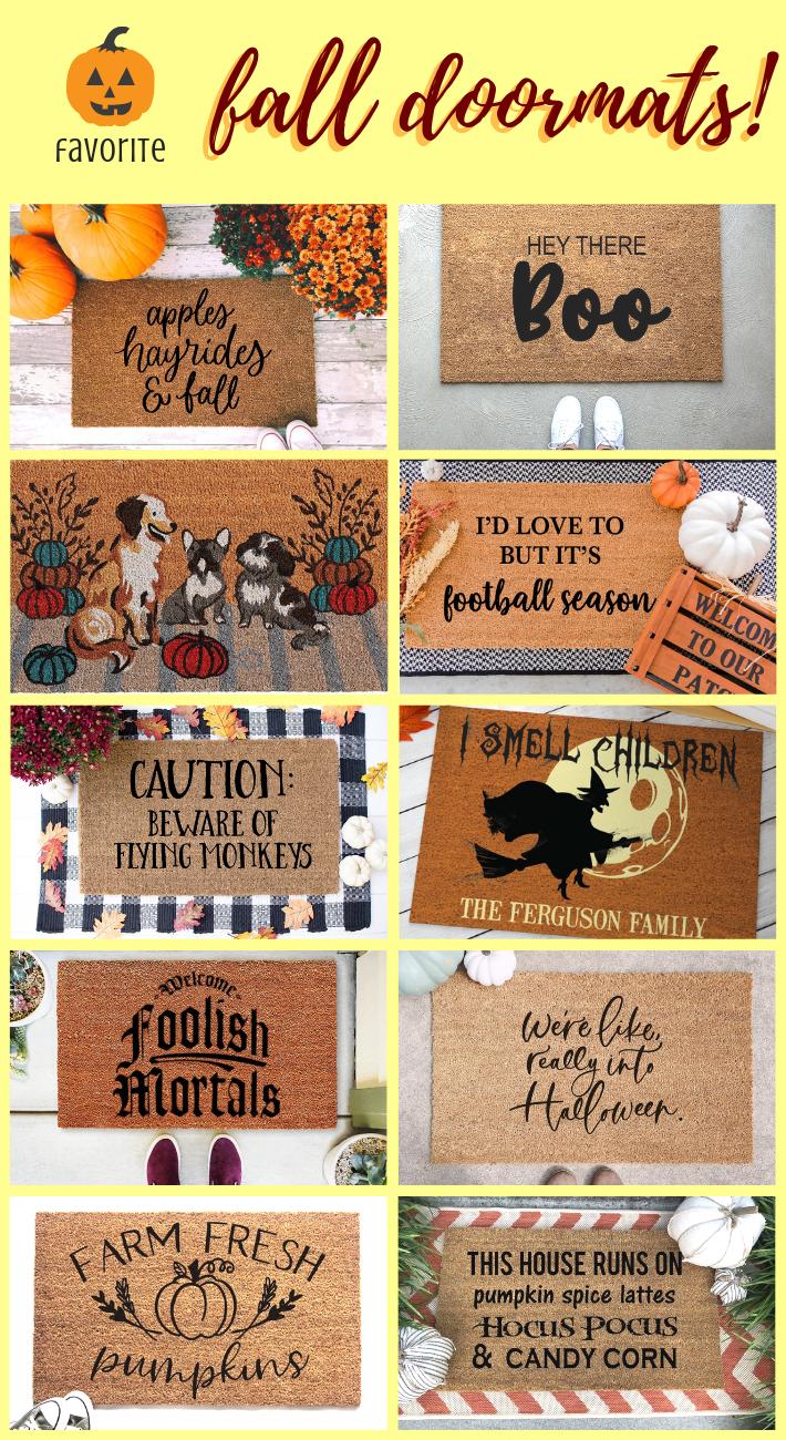 Fall Doormats to Welcome in the Season - joyfully so