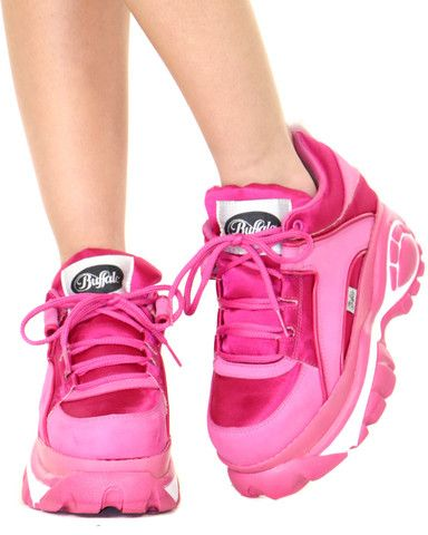 BUFFALO PINKY PARADISE LOW CYBER SNEAKERS at Shop Jeen