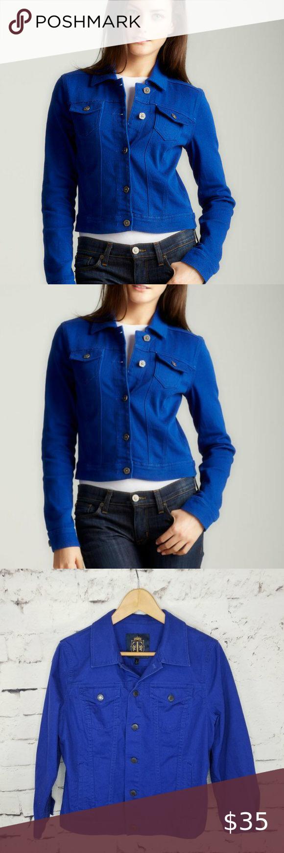 Talbots Royal Blue Denim Jacket Size Medium Petite Blue Denim Jacket Blue Denim Denim Jacket [ 1740 x 580 Pixel ]