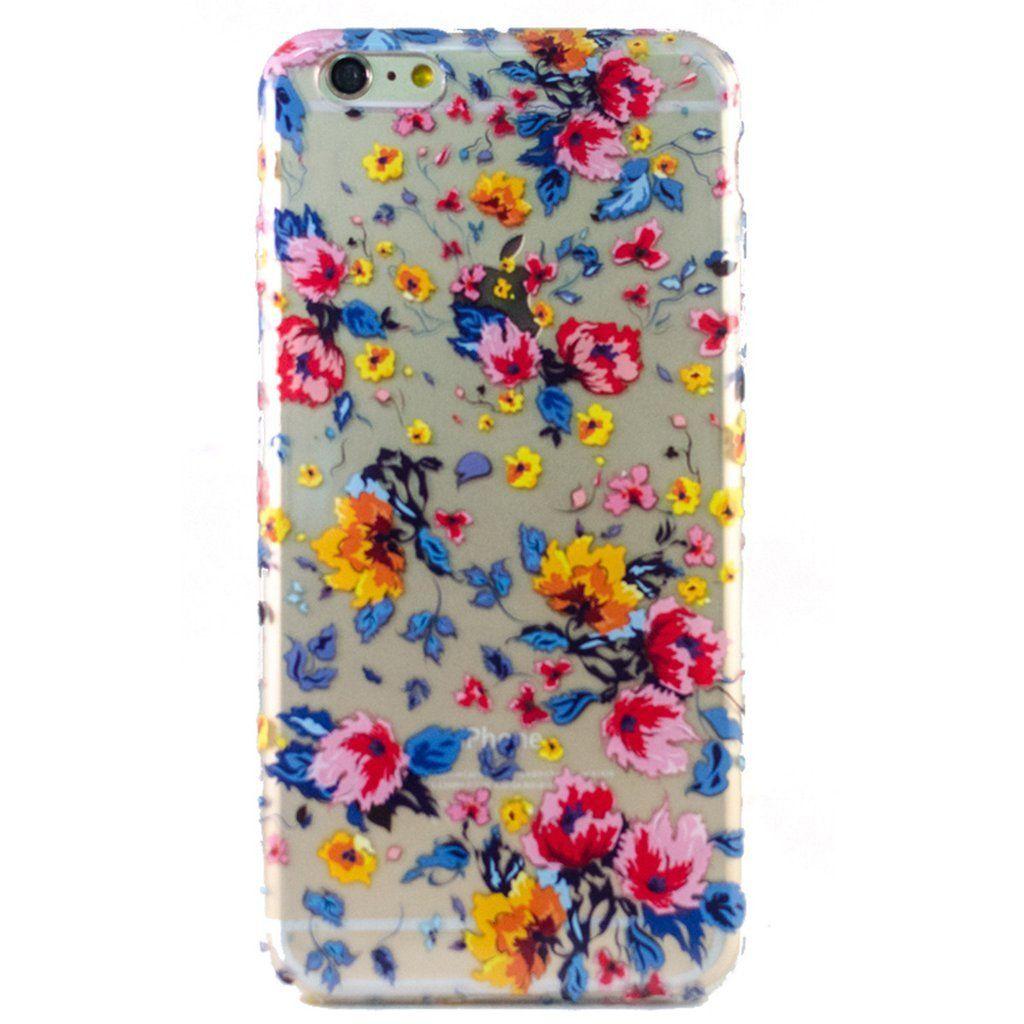 Clear Floral Burst iPhone 6 Plus Case